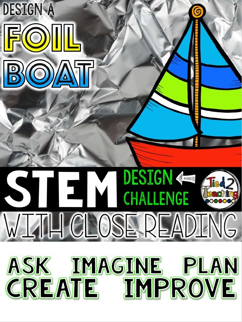 Tied 2 Teaching STEM Design Challenge - Design a Foil Boat