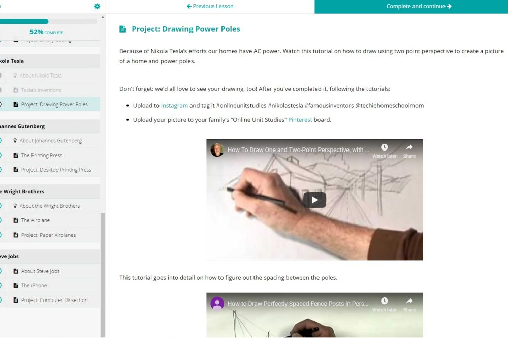 Techie Homeschool Mom Project Drawing Power Poles