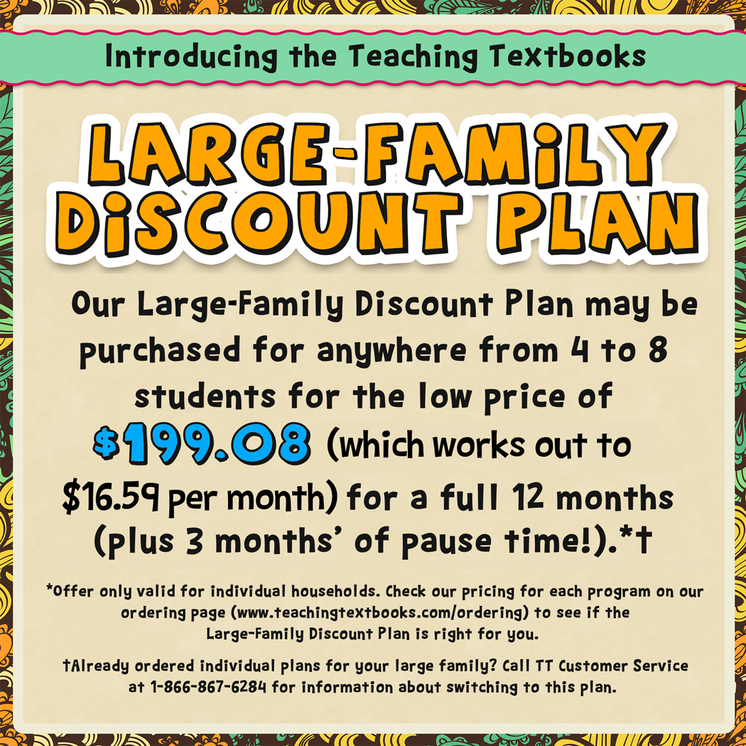 Teaching Textbooks Family Plan Updated