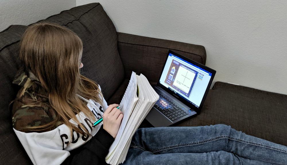 Grace Using Teaching Textbooks 3.0 Pre-Algebra