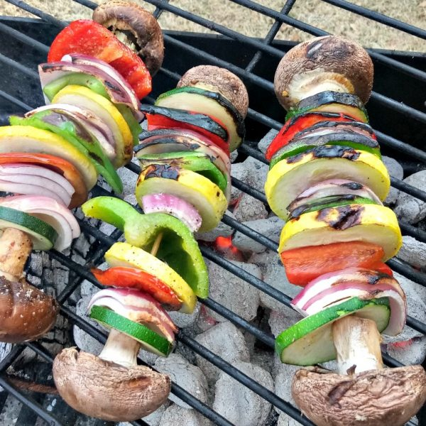 Grilled Veggie Kabobs – Perfect for Camping and Cookouts!