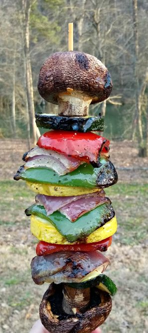 Grilled Veggie Kabobs recipe - great for camping meals