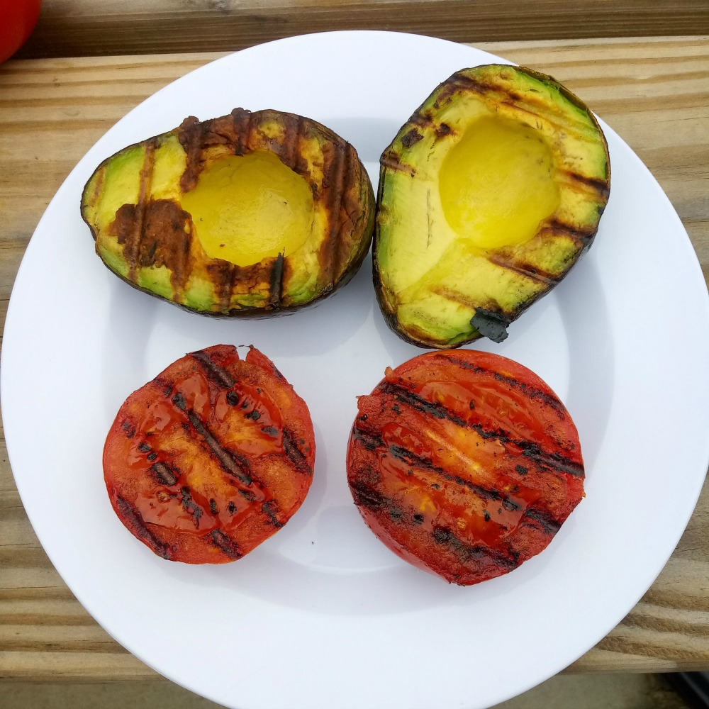 Grilled veggies for Grilled Veggie Guacamole Recipe