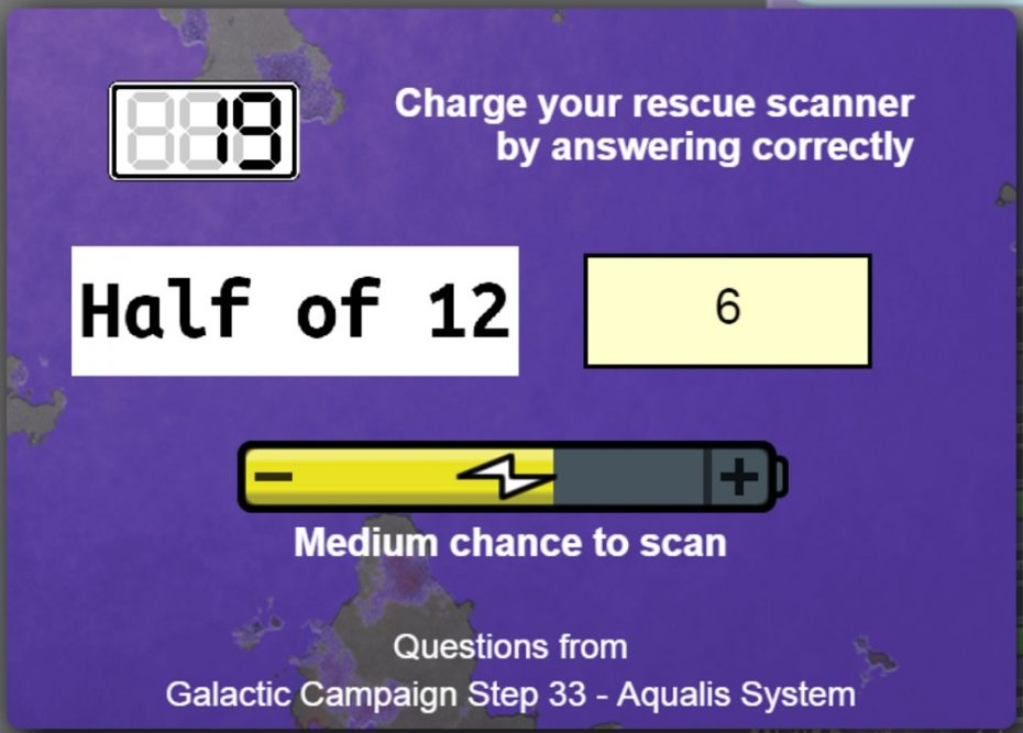 Maths Invaders Online Space Rescue Charge Rescue Scanner