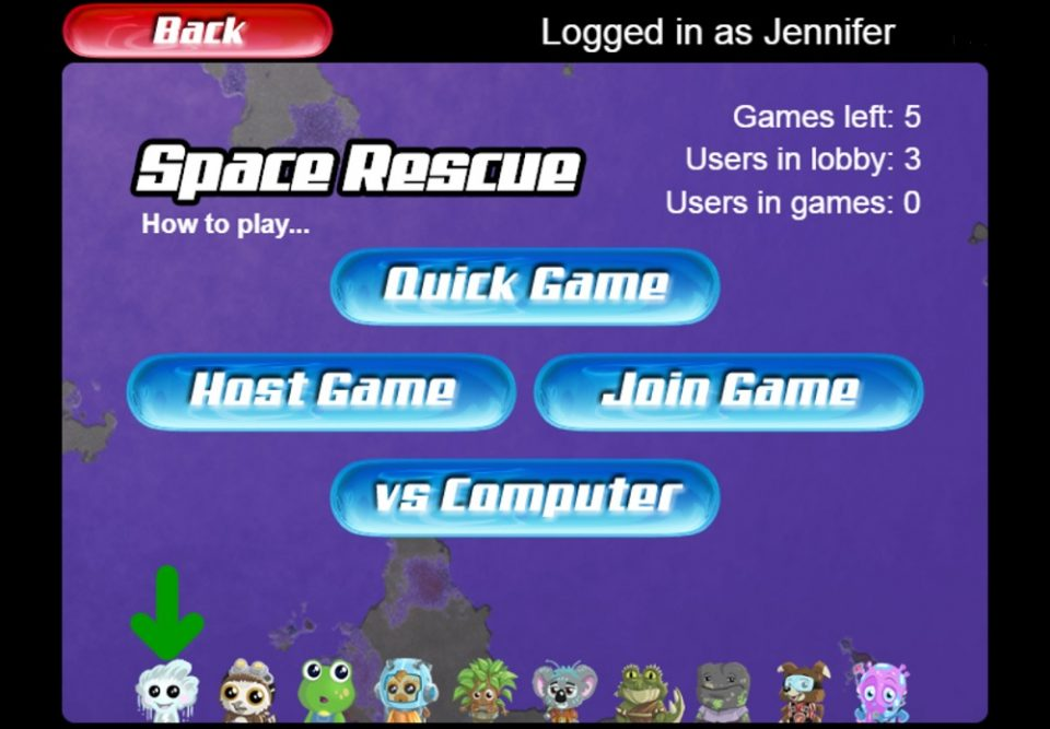 Maths Invaders Online Space Rescue Games