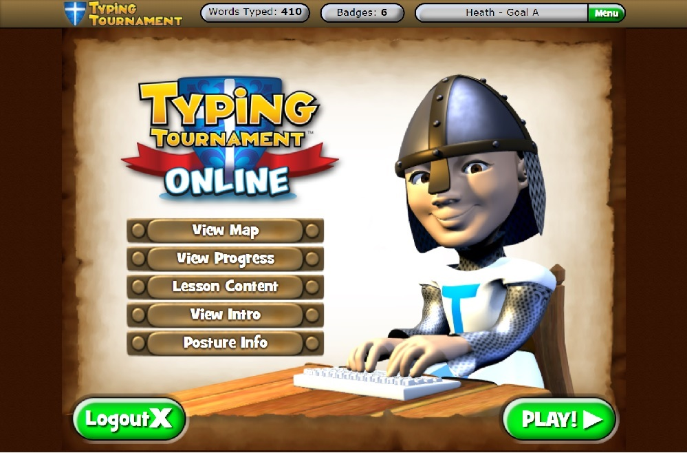 Typing Tournament Online by EdAlive Home screen
