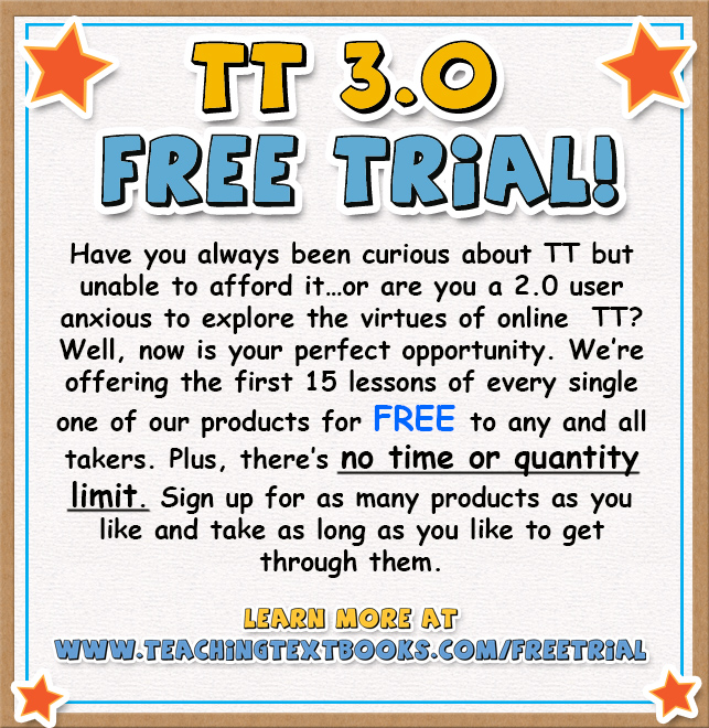 Teaching Textbooks 3.0 Free Trial