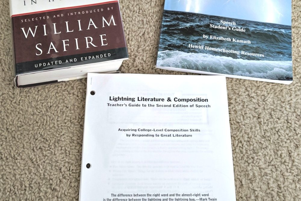 Lightning Literature and Composition - Speech - by Hewitt Homeschooling