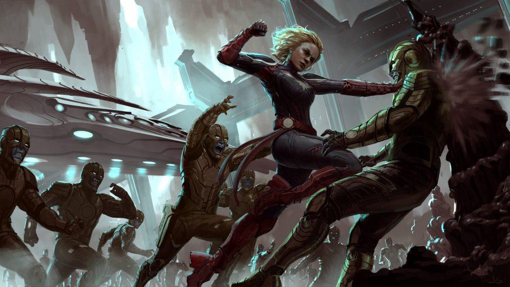 Captain Marvel Action Concept J Staub