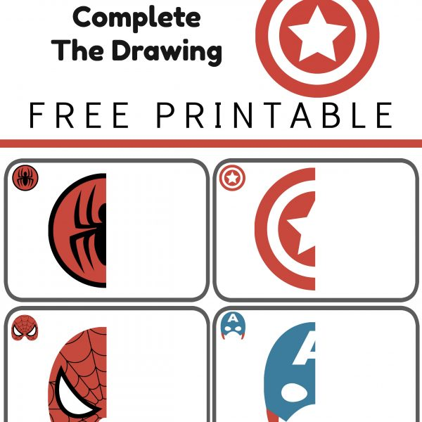 Super Hero Complete the Drawing Printable