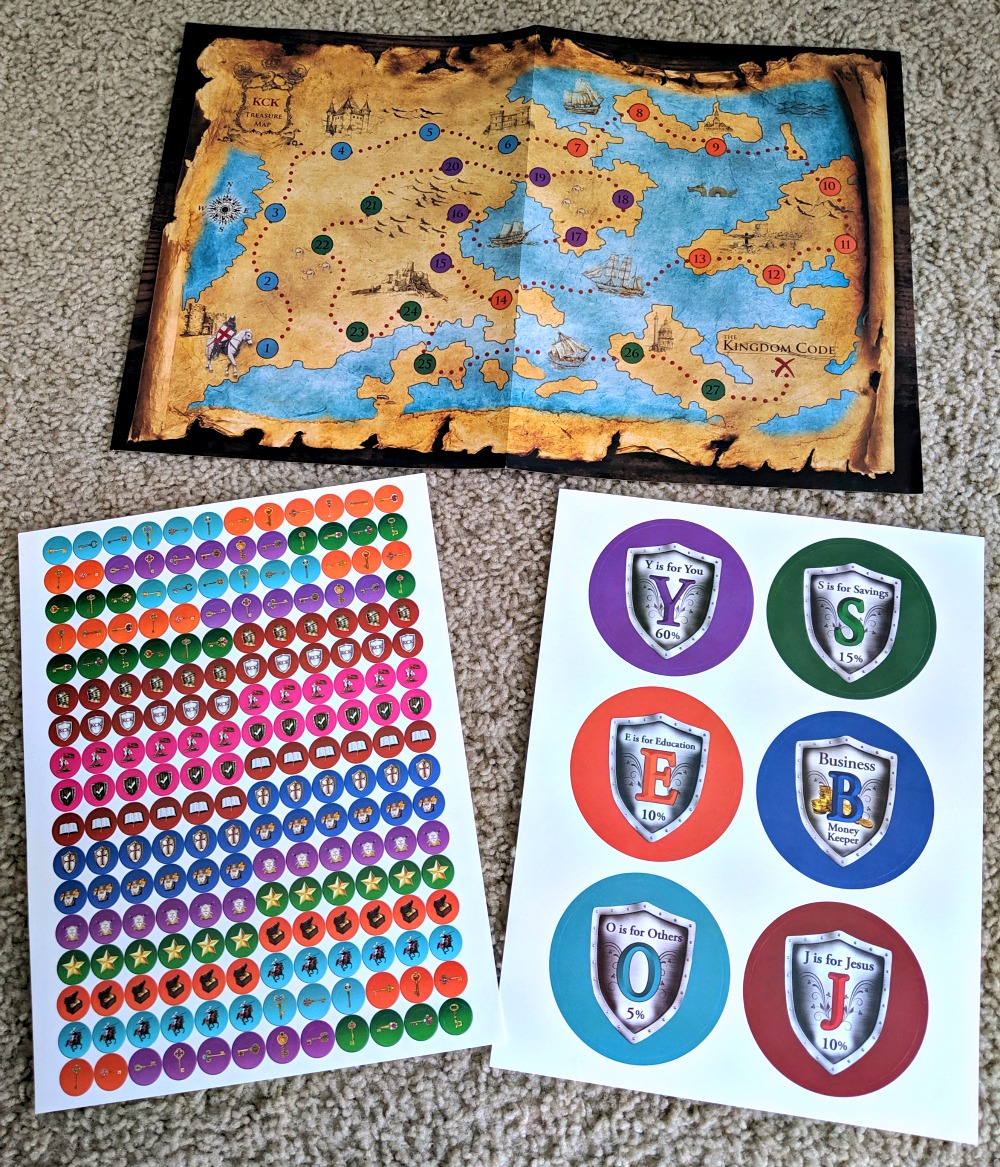 The Kingdome Code Treasure map and Stickers