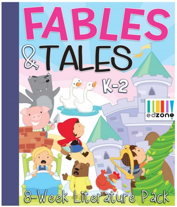Crafty Classroom Fables & Tales 8 Week Literature Pack for K-2