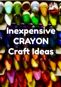 Inexpensive CRAYON Craft Ideas