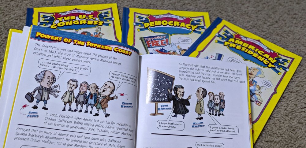 Library and Educational Services LLC Cartoon Nation Set of 4 Look Inside