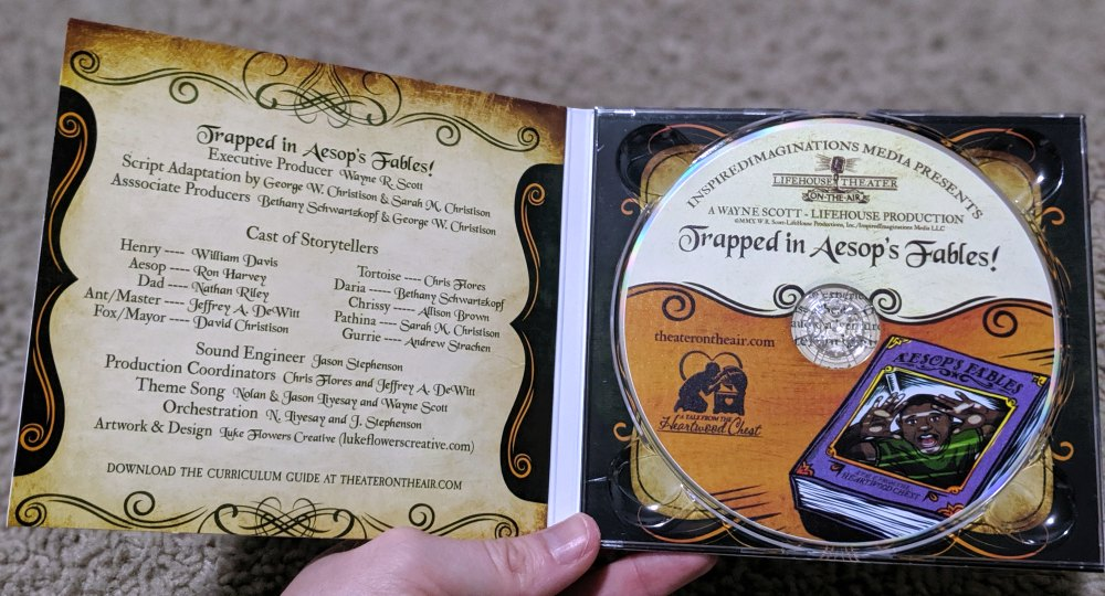 Library and Educational Services LLC - Trapped in Aesop's Fables Audiobook CD