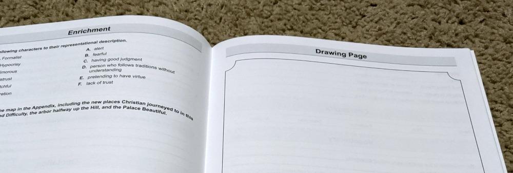 Memoria Press Fourth Grade Literature Guide Set - Dangerous Journey Example Lesson