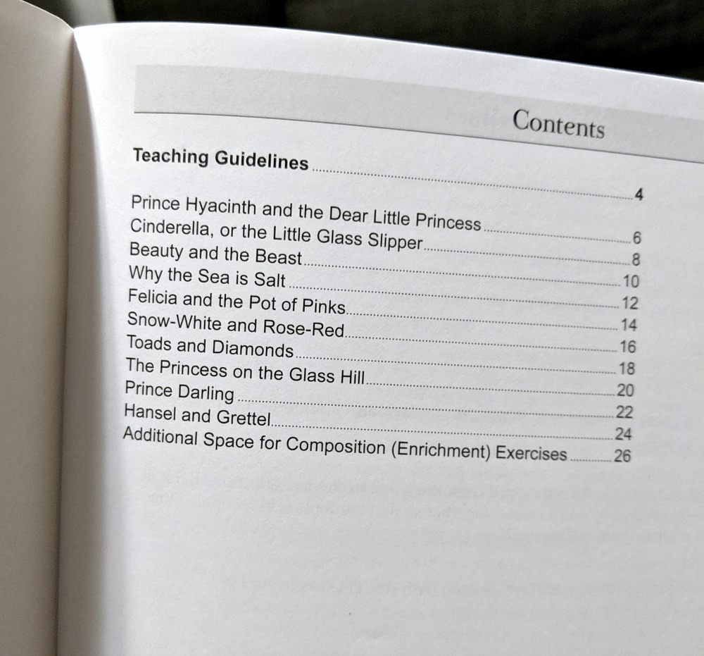 Memoria Press The Blue Fairy Book Student Study Guide Table of Contents
