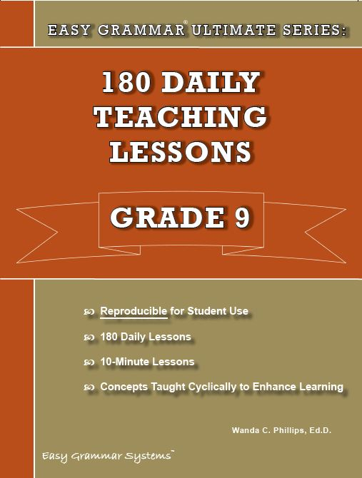 Easy Grammar Ultimate Series 180 Daily Teaching Lessons Grade 9 eBook