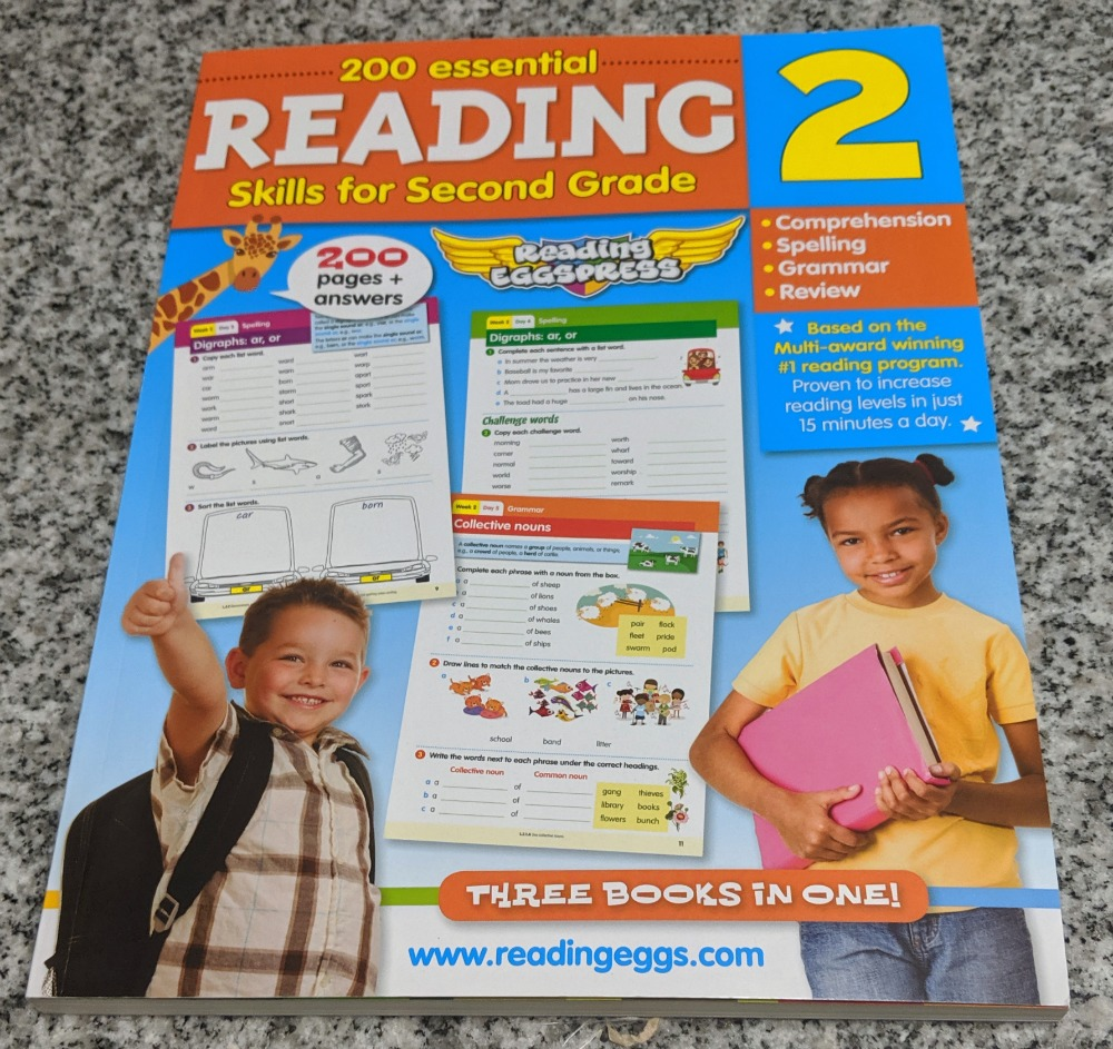 Reading Eggs 200 Essential Skills for Second Grade - Reading 2 Workbook