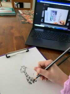 Creating a Masterpiece Drawing Program - Giraffe in Cartoon Video