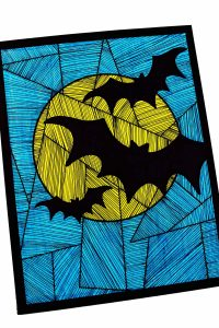 Line Study BAT Themed Art Project - Great for Halloween or Art Class