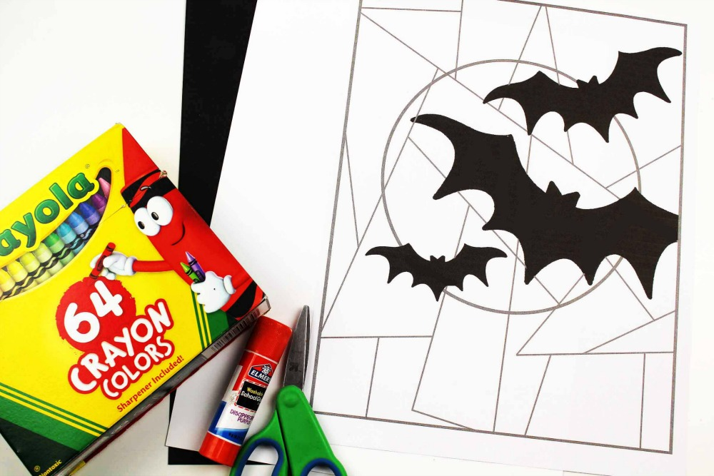 Line Study BAT Themed Art Project Supplies