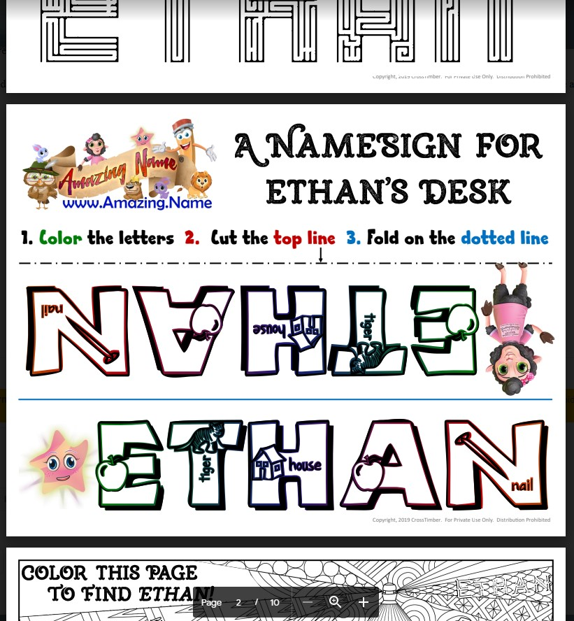 CrossTimber Amazing Name Free Bonus Printables