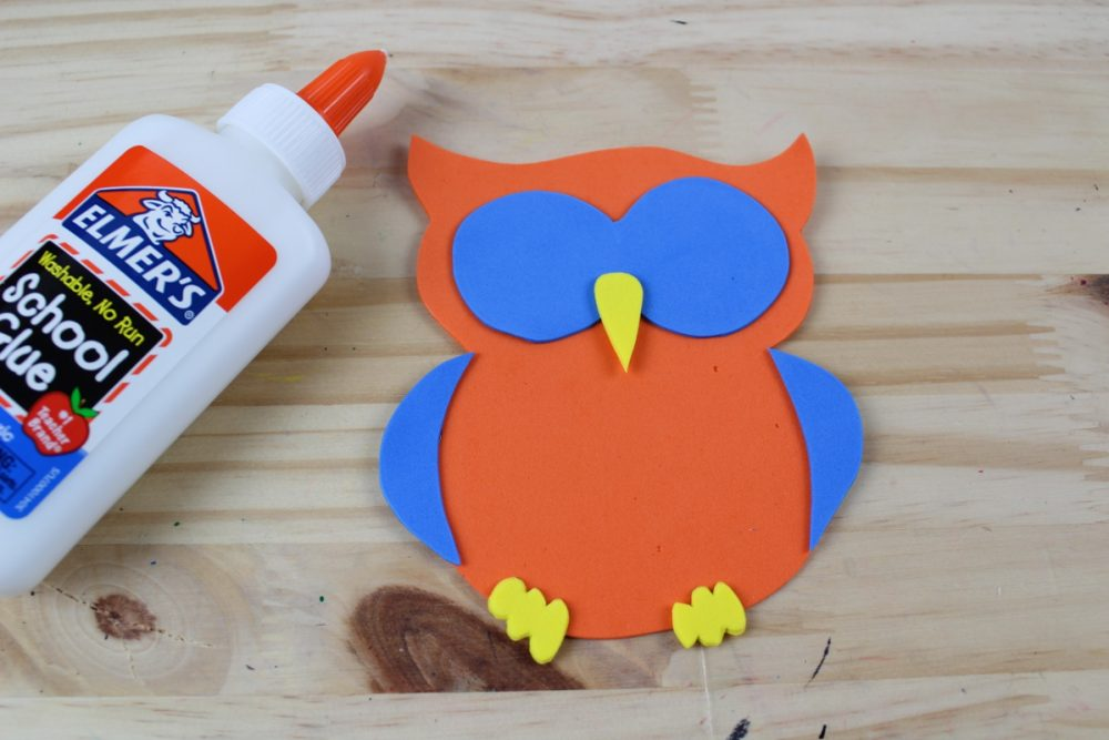 Letter O Craft - O is for Owl Glue the Owl Together