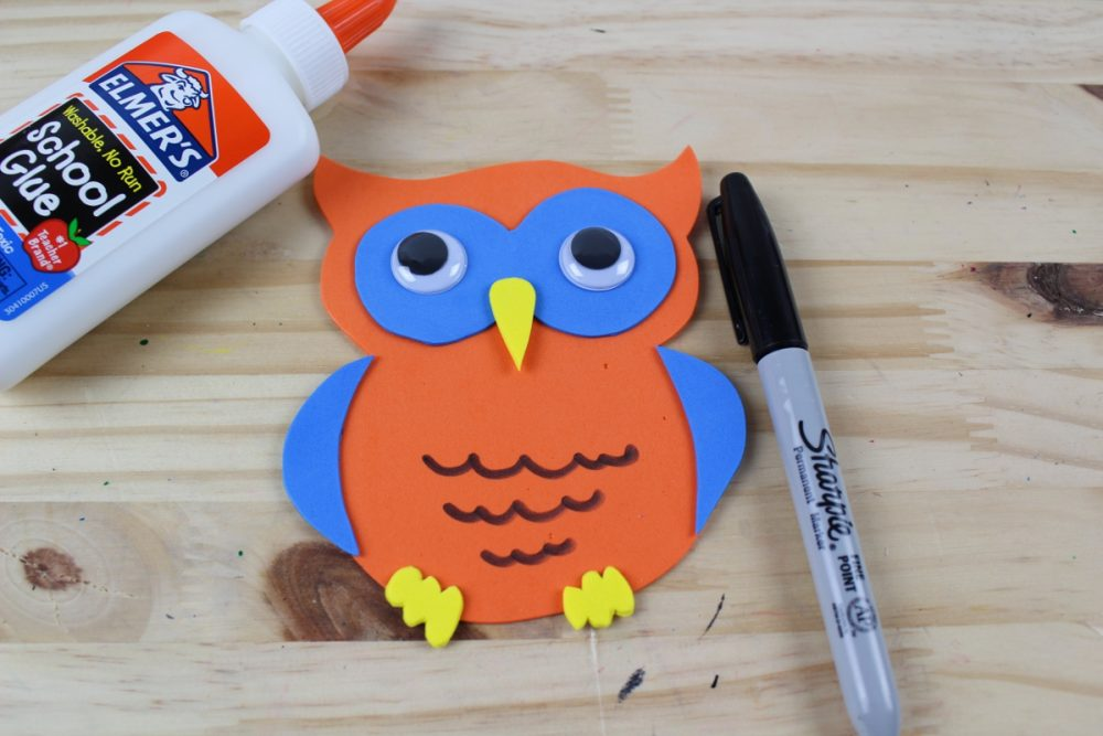 Letter O Craft - O is for Owl Marker and Googly Eyes