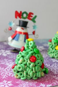 Cereal Christmas Trees Recipe - Final Product