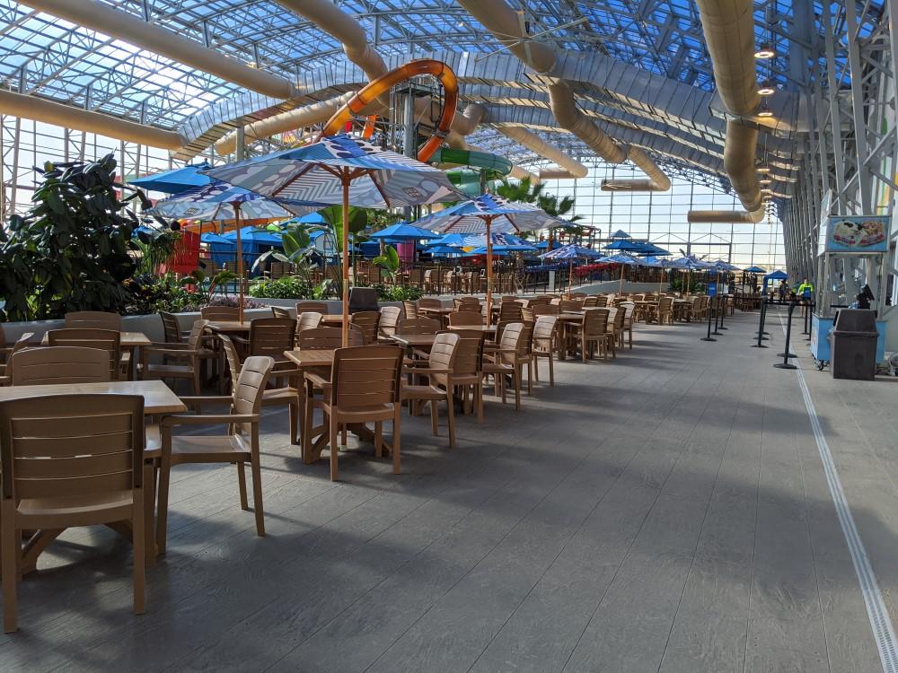 Epic Waters Indoor Waterpark Seating areas