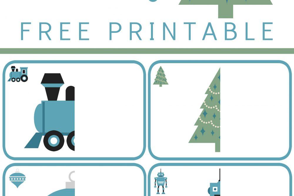 Christmas Complete the Drawing FREE Printable