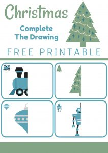 Christmas Complete the Drawing FREE Printable