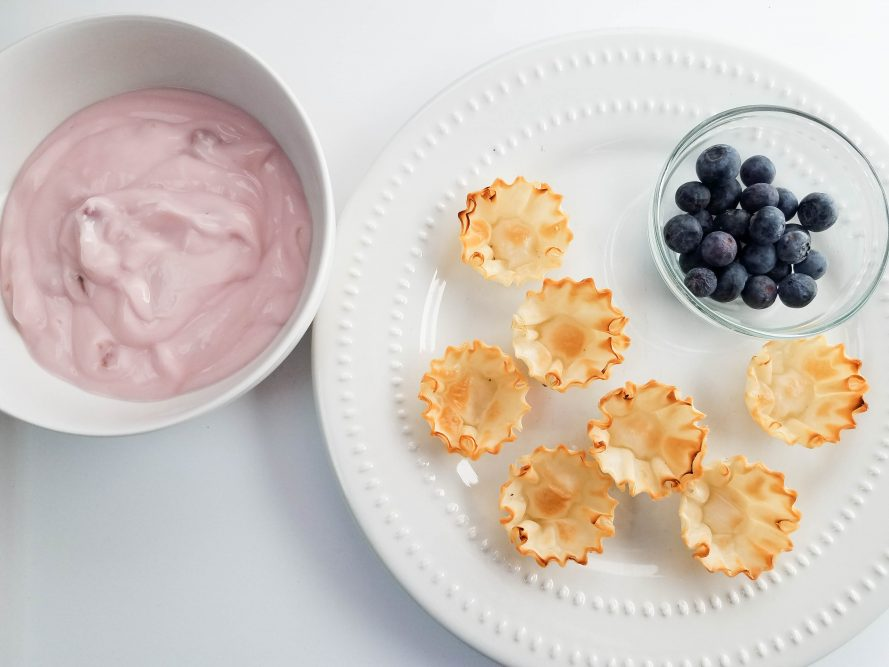 Blueberry Yogurt Tarts Recipe